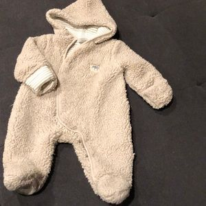 Baby hooded bunting teddy 0-3 winter suit for baby